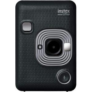 富士フィルム FUJIFILM チェキ インスタントカメラ instax mini LiPlay ダークグレイ INS MINI HM1 DARK GRAY モノクロフィルム10枚おまけ付き 新品|topone1