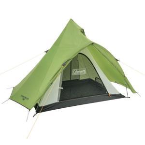 開閉時の雨の浸入を防ぐ前室を備えたシンプル構造のコンパクトティピー型テント。  耐水圧:約1,500...