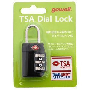 錠 TSAダイヤルロックGX ブラック 1311