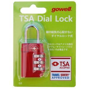 錠 TSAダイヤルロックGX レッド 1312
