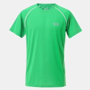 点接点素材で肌離れのいいしなやかな吸速乾Tシャツ。 胸と背中部分にクーリングプリント「クーラスター」...