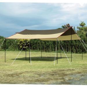 ピグメント加工で、強い日差しを生地の厚さと遮光で二重にカット。  テントとの接続にも使いやすいレクタ...