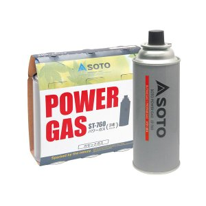 SOTOパワーガス 3本パック ST-7601  寸法:直径69×高さ195mm(ボンベ1本) 重量...