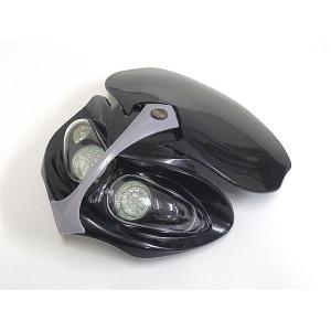 ビキニカウルブラック LED ヘッドライトカウル XR250 CRM250|topsense