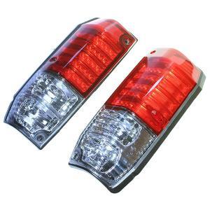 ランクル ランドクルーザー プラド 70 78 系 LED クリスタル コンビ テールランプ カスタムパーツ 社外品 ロング レッド クリア レンズ クロカン オフロード|topsense