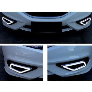 ジェイド LED デイライト ランニングライト 左右セット HONDA JADE フォグランプ カバー ベゼル ポジション LEDデイライト ホンダ ジェイド|topsense