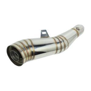 コニカル GP サイレンサー 50.8mm 汎用 スリップオン メガホン スポーツ マフラー Φ50.8 ステンレス製 インナーバッフル付き GPマフラー|topsense