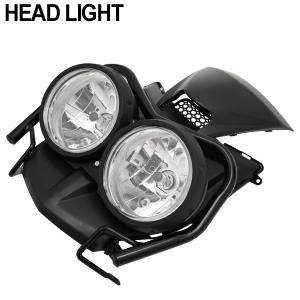 BW'S125 ヘッドライト ZUMA125 欧米仕様 ダブルヘッドランプ ライトガード カスタム ASSY|topsense