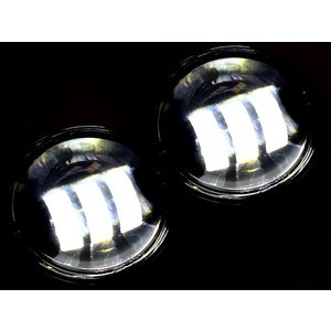 ハーレー LEDヘッドライト フォグランプ 4.5インチ CREE製LED 車検対応 ヘッドランプ LEDヘッドライト LEDフォグランプ 左右セット|topsense