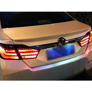 カムリ ハイブリット AVV50系 前期 フルLEDテールランプ ファイバー仕様 スモークレンズ LEDテールライト カスタムテールランプセット スモーク|topsense
