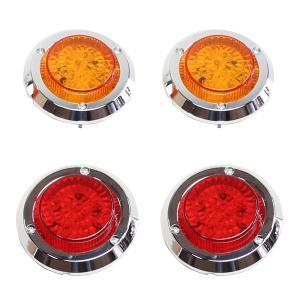 ジムニー JA11 JA22 LED テールランプ ブレーキ ウィンカー 汎用 レッド イエロー ウインカー アンバー レンズ メッキ仕様 尾灯付き|topsense