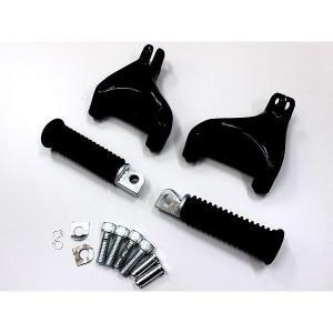 ハーレー XLモデル 04-13 パッセンジャー フットペグマウントキット ブラック ハーレーパーツ タンデム ハーレーダビッドソン スポーツスター ステップ|topsense