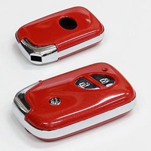 レクサス キーケース スマートキーカバー 初期型 純正適合 ケース ロージーレッド キーレス リモコンキー LEXUS LS GS IS CT RX アクセサリー|topsense