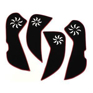 マツダ アテンザ GJ系 キックマット キックガード ドア 内装 保護 トリム ガード アンダーカバー キズ防止 プロテクター ドレスアップ カスタム パーツ|topsense