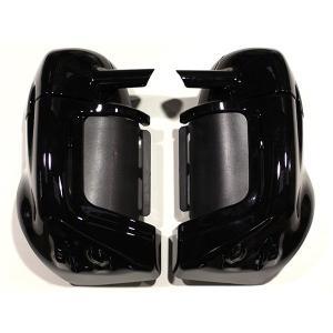 ハーレー ロワーフェアリングキット 塗装済み ブラック 鍵付き FLHR FLHRC FLHX FLHTC ロアーフェアリング ツーリング ロードキング エレクトラ グライド|topsense
