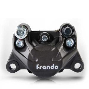 FRANDO 9GA 2ポットキャリパー ブレーキキャリパー 対向2ポット キャリパー アルミ鍛造 キャリパー ブレーキ 2POT ハードアルマイト 高品質 大人気!|topsense