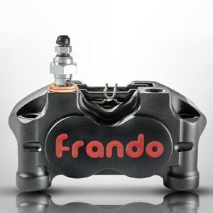Frando キャリパー HF-1 スモール4ポットラジアルマウントキャリパー ブラック HF1  フランドー ブレーキキャリパー 高性能 対向4ポッド|topsense