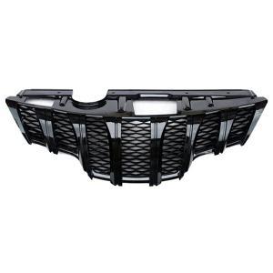 エクストレイル T32 フロントグリル エアロ ブラック 外装 社外品 カスタムパーツ 交換タイプ  マーク着脱式 フロントカメラ対応|topsense