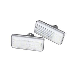 トヨタ LED ライセンスランプ ユニット ナンバー灯 2個セット 210系 クラウン 100系 200系 ランクル 120系 プラド 10系 SAI 前期 カスタム パーツ|topsense