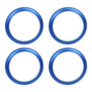 日産 NV350 キャラバン E26 DX GX エアコンリング カバー ブルー 4点セット 純正適合 内装 カスタムパーツ ACベンチリング インテリアパネル topsense