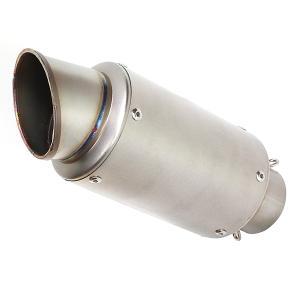 60.5mm GP サイレンサー スリップオン マフラー YZF R-25 R-3 R25 R3 CBR250R CBR400R MT-25 MT25 MT-03 ショートサイレンサー 汎用 60.5π|topsense