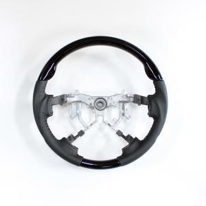 ハイエース 200系 4型 ステアリング ガングリップ スポーツタイプ レザー ハンドル カスタムパーツ 純正エアバック対応|topsense