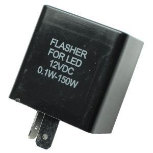 ウインカーリレー 2ピン 12V 車用 ICウインカーリレー LED対応 ハイフラ防止 汎用 2極 リレー 社外品 2pin 音無しタイプ|topsense