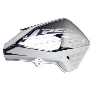 PCX メッキ エアクリーナーカバー 125 150 JF81 KF30 ハイブリッド 外装 カスタムパーツ 社外品 エアクリ ガード プロテクター ガーニッシュ シルバー|topsense