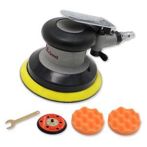 エアーポリッシャー ダブルアクション 車 研磨 洗車 小型 ポリッシャー スポンジ 付 120mm 工具 メンテナンス用品|topsense