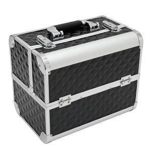 ツールボックス 3段式 おしゃれ 工具箱 ブラック アルミ 収納ボックス 道具箱 コスメボックス DIY ガレージ インテリア映え|トップセンス