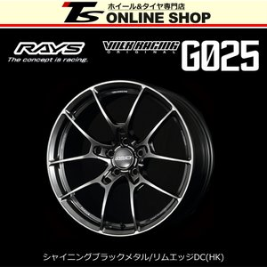 RAYS VOLK RACING G025 9.5J-20インチ (40) 5H/PCD114.3 HK ホイール1本 レイズ ボルクレーシング