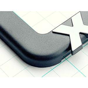 デリカ D:5 (新型対応) 3DロゴナンバーフレームSLIM サンドサーフェース/シルバーステッカ...