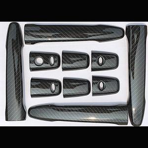 デリカ D:5 X4X ドアハンドルカバー カーボン調