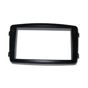 BENZ C W203 2DINオーディオ取付パネル ブラックカラー