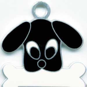トイプードル(黒) 犬 迷子札 【名入れ】 ドッグタグ  犬鑑札 トップワン IDプレート メール便  オーダーメイド アクセサリー |topwan