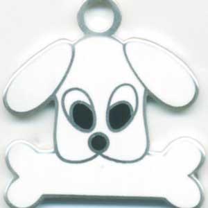 トイプードル(白)【名入れ】 犬 迷子札 犬鑑札 IDプレート メール便 ドッグタグ アクセサリー トップワン|topwan