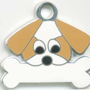 シーズー(金) 犬 迷子札 【名入れ】  トップワン  ドッグタグ  犬鑑札 IDプレート メール便 アクセサリー  携帯ストラップ|topwan
