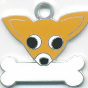 チワワ(A) 犬 迷子札  ドッグタグ 【名入れ】 トップワン  犬鑑札 IDプレート メール便 アクセサリー  携帯ストラップ|topwan