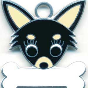 チワワ(E) 犬 迷子札  ドッグタグ 【名入れ】 トップワン  犬鑑札 IDプレート メール便 アクセサリー  携帯ストラップ|topwan