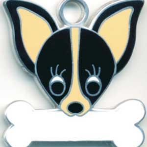チワワ(G) 犬 迷子札  ドッグタグ 【名入れ】 トップワン  犬鑑札 IDプレート メール便 アクセサリー  携帯ストラップ|topwan