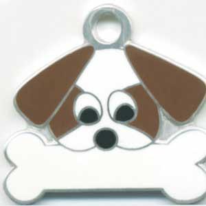 シーズー(茶) 犬 迷子札 【名入れ】   ドッグタグ トップワン 犬鑑札 IDプレート メール便 アクセサリー |topwan