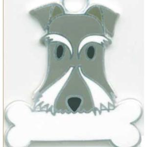 犬 迷子札 ミニチュアシュナウザー   ドッグタグ  トップワン  【名入れ】  販売 犬鑑札 IDプレートアクセサリー  携帯ストラップ 刻印 名前|topwan