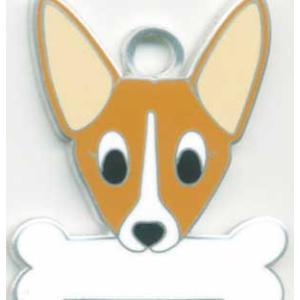 犬 迷子札 コーギー  ドッグタグ  トップワン  【名入れ】 販売 犬鑑札 IDプレート メール便  アクセサリー 携帯ストラップ 刻印 名前|topwan
