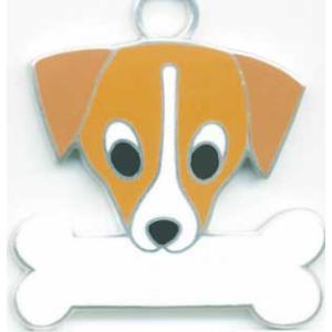迷子札 ジャックラッセルテリア ドッグタグ トップワン 【名入れ】犬 ネックレス  犬 アクセサリー  IDプレート  メール便|topwan