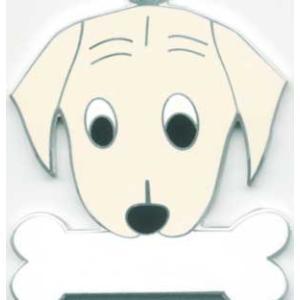 犬 迷子札 ラブラドール(クリーム) ドッグタグ トップワン 【名入れ】  販売 犬鑑札 ペット  IDプレート  アクセサリー  携帯ストラップ 刻印 名前|topwan
