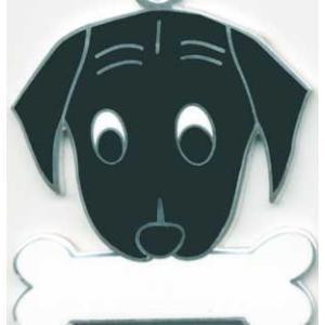 犬 迷子札 ラブラドール(黒ラブ) ドッグタグ トップワン 【名入れ】 販売  ペット 犬鑑札 IDプレート  アクセサリー  携帯ストラップ 刻印 名前|topwan