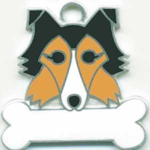 犬 迷子札 シェットランドシープドッグ ドッグタグ トップワン 【名入れ】 販売 犬鑑札 IDプレート アクセサリー  携帯ストラップ 刻印 名前|topwan