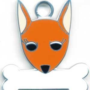 犬 迷子札 ミニチュアピンシャー(茶) ドッグタグ トップワン 【名入れ】 販売 犬鑑札 IDプレート  アクセサリー  携帯ストラップ 刻印 名前|topwan