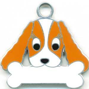 犬 迷子札 キャバリア(茶)  ドッグタグ 【名入れ】 販売 犬鑑札 IDプレートアクセサリー トップワン 携帯ストラップ 刻印 名前|topwan