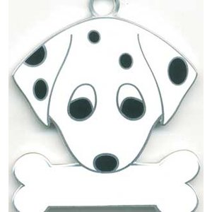 犬 迷子札 ダルメシアン  ドッグタグ トップワン 【名入れ】 販売 犬鑑札 IDプレート メール便アクセサリー  携帯ストラップ 刻印 名前|topwan